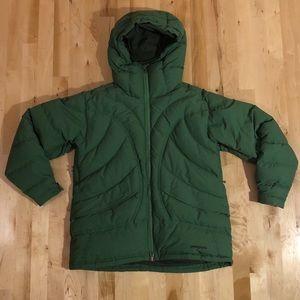 EUC Green Down Patagonia Coat